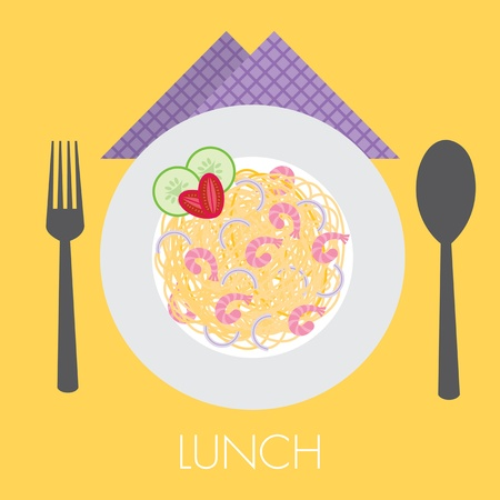 single lunch Illustration