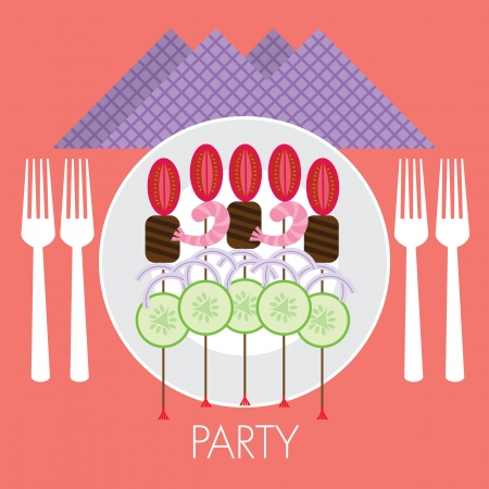 party food stick Illustration