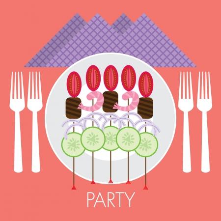 party food stick Illustration