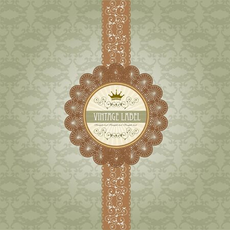 Vintage label on gift box design Stock Vector - 18689054