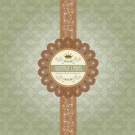 fragrance: Vintage label op geschenkdoos ontwerp