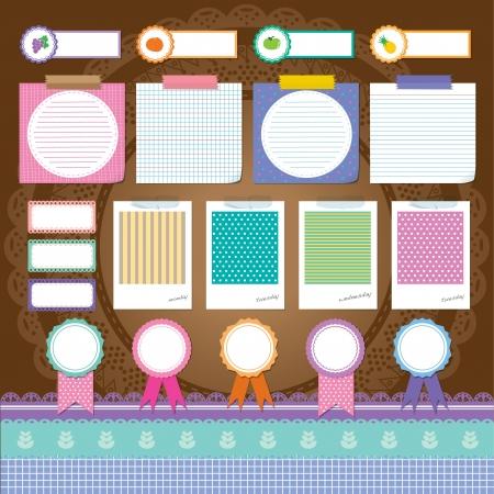 lovely scrapbook elements set