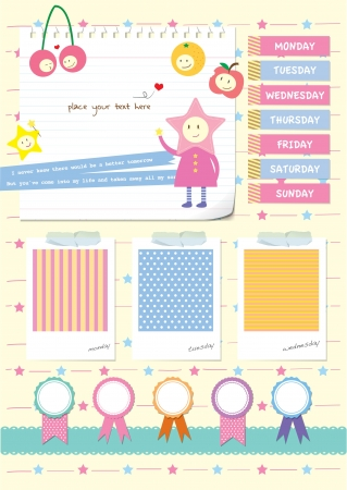 my cute scrapbook elements set Vector