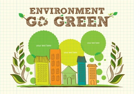 go green campaign poster Illustration