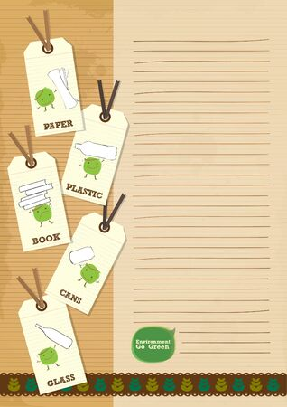 recycle bean writing paper letter