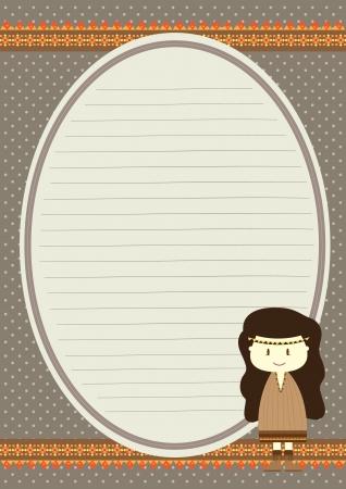 bohemian girl writing paper