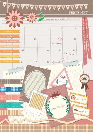 diary: diary style photo scrapbook elements design
