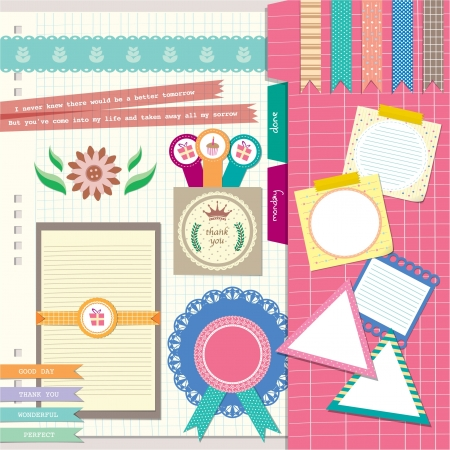 cute and lovely scrapbook element for photobook