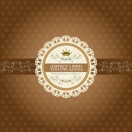 Vintage label on gift box design - chocolate box