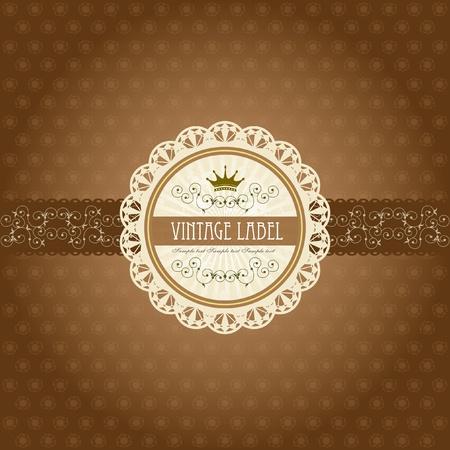 Vintage label on gift box design - chocolate box