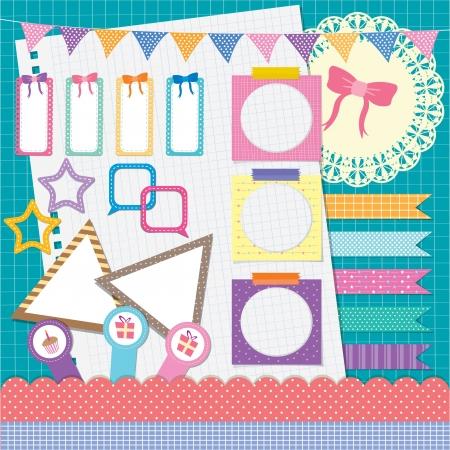 rt: my photo scrapbook elements set - colorful fantasy Illustration