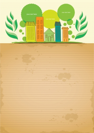 hand draw simple and clean recycling letter paper Illustration
