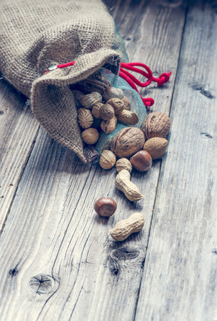 a bag full of nuts and almonds photo