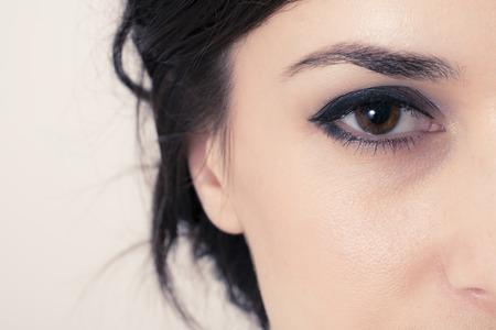 brown eye: Macro image of a brown eye Stock Photo
