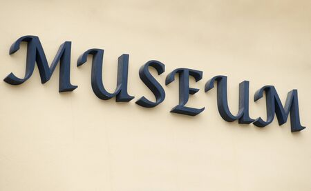 at sign: museum sign