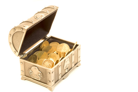 loot: Treasure chest and gold coins