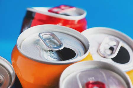 doses: Colorful Aluminum can, recycled doses