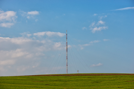 tension: high tension wire and the blue sky