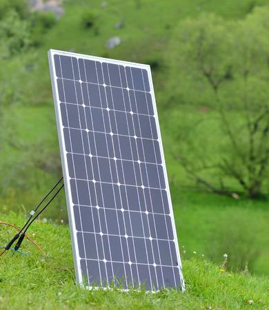 solar panel on meadow