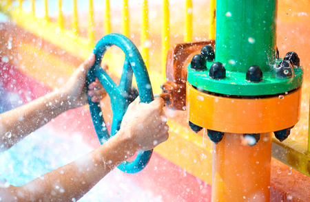 hands open water valve