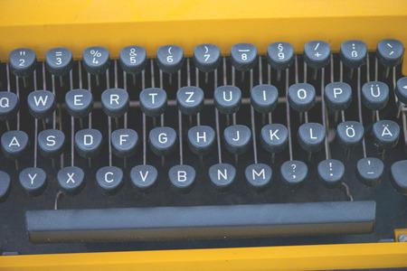 vintage typewriter keyboard close up Stock Photo