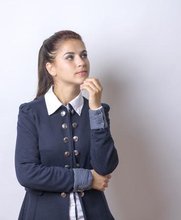 thinking woman: beautiful business woman thinking