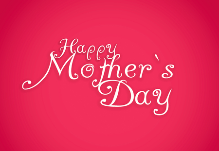 caligraphic: Happy Mothers Day lettering. Handmade calligraphy. Stock Photo
