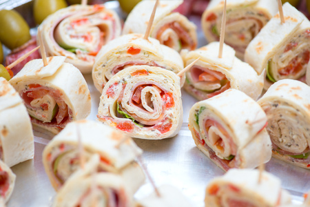appetizers at wedding table