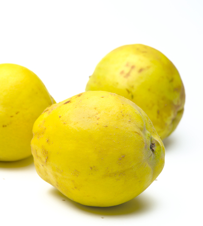 Bio quince on a white background Stock Photo