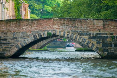 water canal and bridge in Brugge, Belgium
