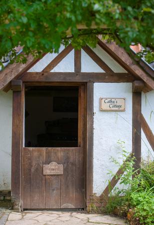 Landgraaf, Netherlands August 06  2017: Image of a cottage in the English garden of Park Mondo Verde. Editorial