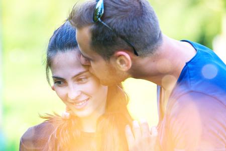Young couple hugging and having fun Standard-Bild - 106318246