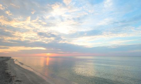 Beautiful sunrise at black sea Standard-Bild - 110837758