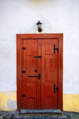 Old door in the city of Sibiu, Romania