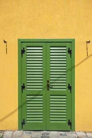 Door in the city of Sibiu, Romania Stock fotó