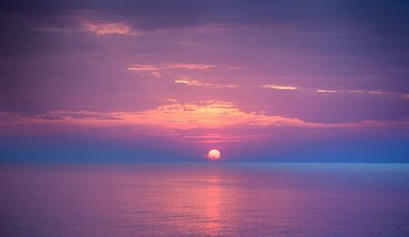 beautiful sunset over the sea in summer time Stock fotó