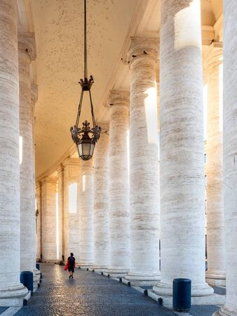 colonnade on Sr.Peter square in Rome, Vatican, Italy