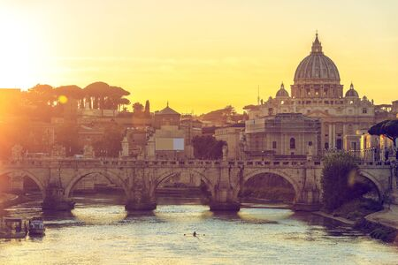 Wonderful view of St Peter Cathedral, Rome, Italy Banco de Imagens
