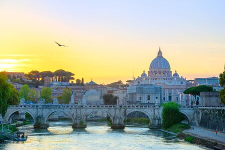 Wonderful view of St Peter Cathedral, Rome, Italy Stock fotó