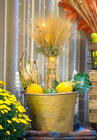 autumn decoration for thanksgiving day