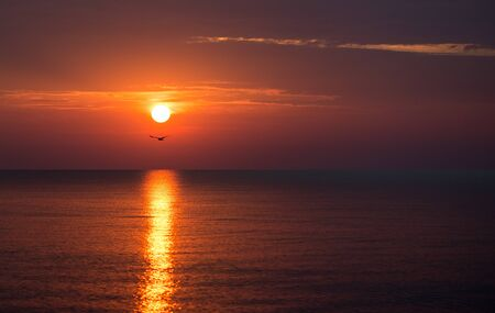 beautiful sunset over the sea in summer time Reklamní fotografie