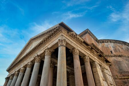 Pantheon in Rome, Italy on a sunny day