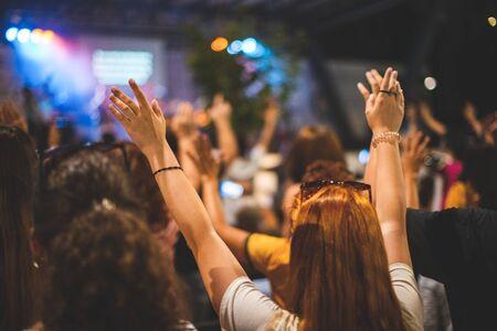 Christian congregation worship God together Imagens