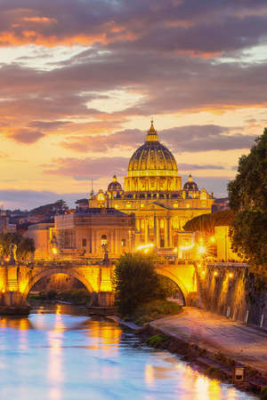 Wonderful view of St Peter Cathedral, Rome, Italy Sajtókép
