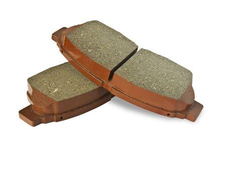 New auto brake pads isolated on white background Stock Photo - 4679477
