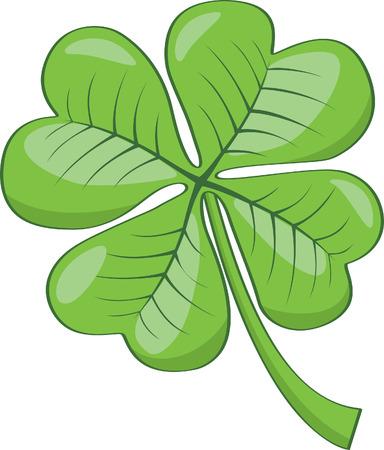 four leaf: Tr�bol de cuatro hojas Vectores
