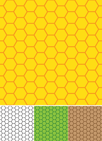 two tone: Two tone bee cells seamless vector background Illustration