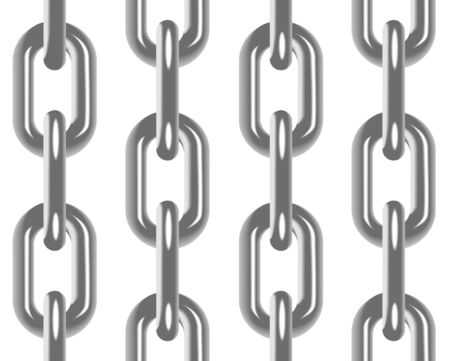 metal chain: Chain seamless pattern with white background Illustration