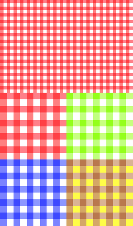checked: Tablecloth texture-checked fabric seamless vector pattern