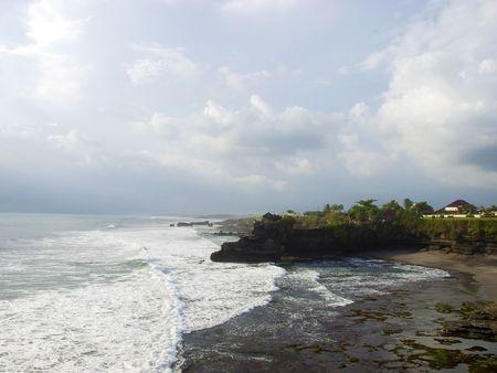 Tanah Lot Temple territory ocean coastline, Bali, Indonesia Stock Photo - 4917261